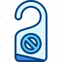 disturb, do, not, sign icon