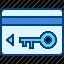 card, entry card, hotel, keycard icon
