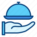 food, hotel, room, service icon