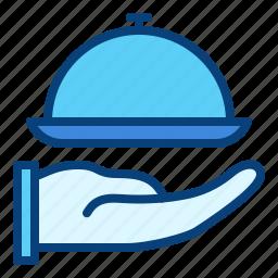 food, hotel, room, service icon