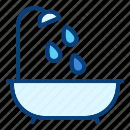 bath, bathroom, bathtub, shower, tub icon