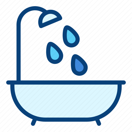 bath, bathroom, bathtub, shower, tub icon