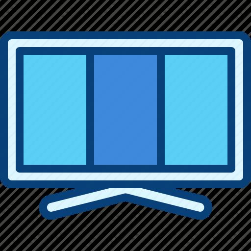 desktop, device, display, monitor, television, tv icon