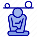 balance, concentration, meditation, mind, mindfulness icon