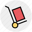 cargo, cargo cart, cart, construction, delivery, package, warehouse icon