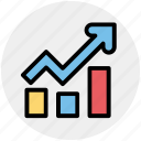 analytics, chart, construction, graph, growth, stock icon