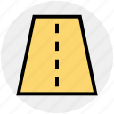 construction, highway, one way, road, road sign, travel, way icon
