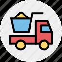 1, construction, heavy machine, heavy vehicle, loading, transport, truck icon