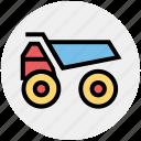 .svg, construction, heavy machine, heavy vehicle, loading, transport, truck icon
