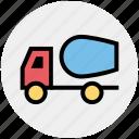 2, cement truck, concrete, concrete truck, construction, truck, vehicle icon