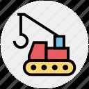 .svg, concrete bulldozer, construction, construction crane, crane, lifter, vehicle icon