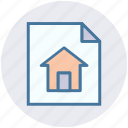 architectural paper, architecture, blueprint, construction map, document, house plan icon