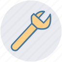 construction, garage tool, mechanic, repair tool, spanner, wrench icon