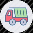 construction, heavy machine, heavy vehicle, loading, transport, truck icon