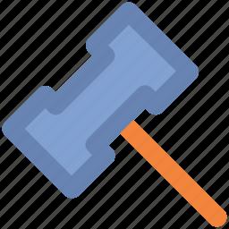 hammer, hammer tool, heavy hammer, nail fixer, nail hammer icon