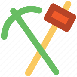 ax, axe, chopping, cutting, gardening tool, working tool icon