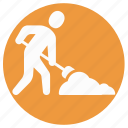 construction tools, digging, farming, gardening tools, shovel, spade icon