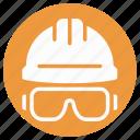 builder hat, hard hat, headgear, miner cap, protection equipment, protective hat, worker cap icon