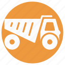 construction truck, delivery transport, dump truck, loading truck, transport, truck, vehicle icon