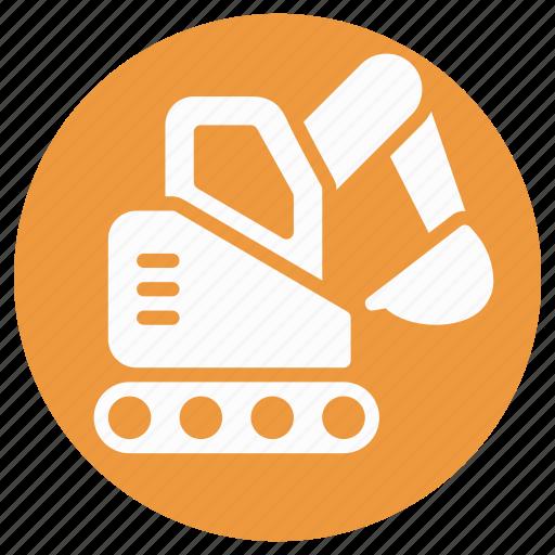 bulldozer, crane, excavator, heavy equipment, lifter, luggage lifter, luggage lifting crane icon