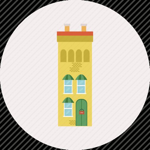 architecture, building, construction, exterior, floor, house, level icon