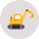 construction, excavators, industry, tool, truck, vehicle, work icon