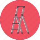 construction, high, ladder, safety, work icon