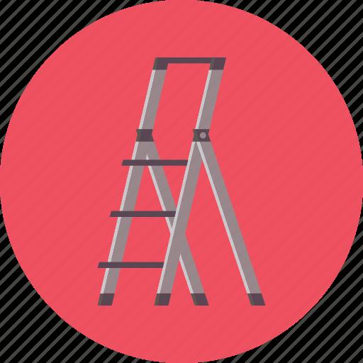 construction, high, ladder, safety, work icon