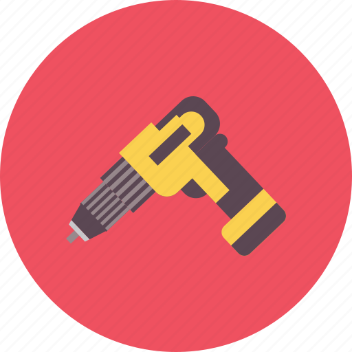 construction, drill, equipment, industry, nail, tool, work icon