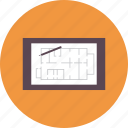 blueprint, board, concept, construction, draw, equipment, tool icon