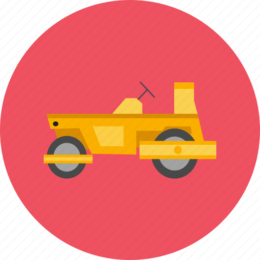 construction, industry, road, roller, tadem, vehicle, work icon