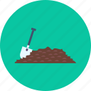 construction, equipment, hoe, industry, soil, tool, work icon