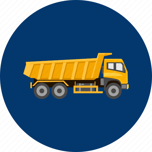 big, construction, equipment, industry, transportation, truck, vehicle icon