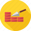 brick, building, construction, equipment, repair, tools, work icon