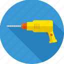 building, construction, driller, repair, tool, tools, work icon