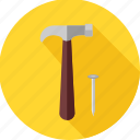 building, construction, hand tool, repair, tool, tools, work icon