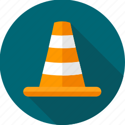 barrier, cone, construction, traffic, work icon