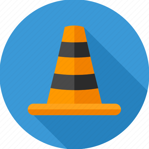 cone, construction, maintenance, traffic, work icon