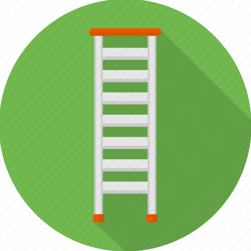 building, construction, ladder, production, stairs, work in progress icon