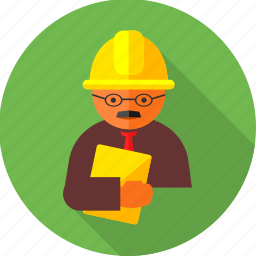 builder, engineer, manager, professional, site report, work, worker icon