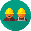 architect, builder, construction, engineer, labor, manager, worker icon