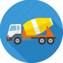 building, construction machinery, heavy vehicle, machine, machinery, truck, work icon