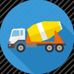 building, construction machinery, heavy vehicle, machine, machinery, truck, work icon