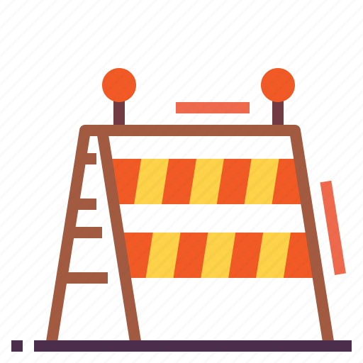barrier, construction, equipment, tools icon