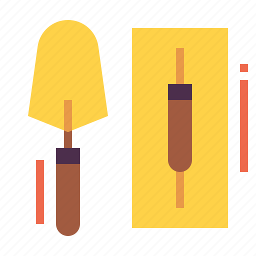 construction, equipment, tools, trowel icon