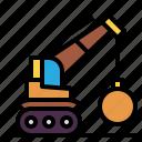 construction, crane, demolition, transportation, truck icon