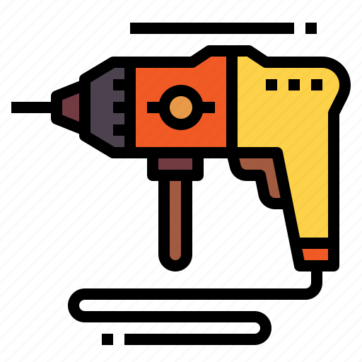 Construction, drill, machine, perforator, tools icon - Download on Iconfinder