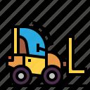 construction, forklift, transport, transportation, truck