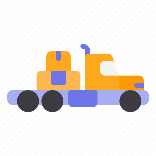 construction, delivery, heavy, truck, vehicle icon