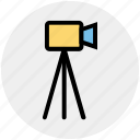 camera, construction, engineer, measure, surveyor, tool, work icon